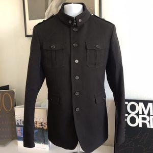Burberry Men's Black Milford Jacket Size Eur 52